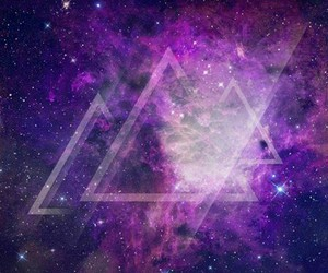 galaxy, triangle, and purple image