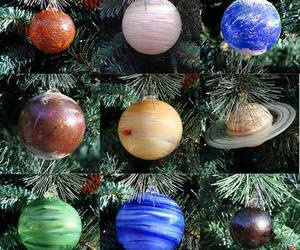 christmas, planet, and ornaments image