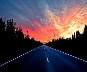 road, light, and sky image
