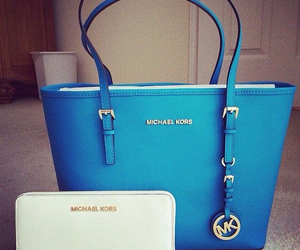 bag, blue, and mk image