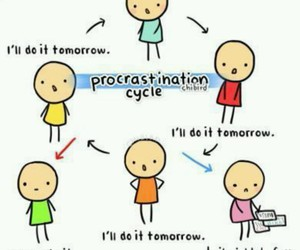 funny, procrastination, and chibird image