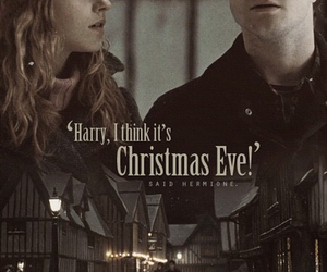 harry potter, hermione granger, and christmas eve image