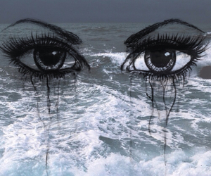 cry, ocean, and waves image