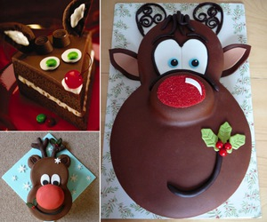 recipe, christmas idea, and rudolph cake image