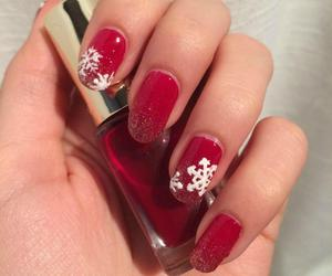 christmas, glitter, and nail art image