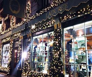 christmas, france, and laduree image