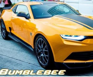 car, transformers, and bumblebee image