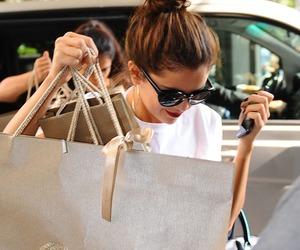 selena gomez, Versace, and shopping image