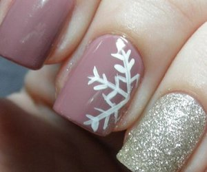 nails, snow, and winter image