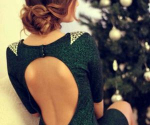 back, dress, and green image