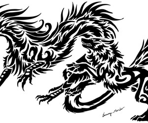 dragon and wolf image
