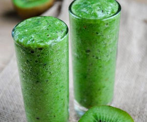 kiwi, green, and drink image