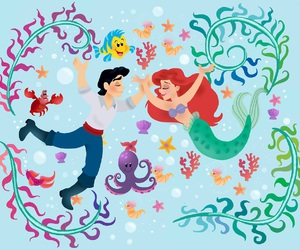 disney, ariel, and little mermaid image