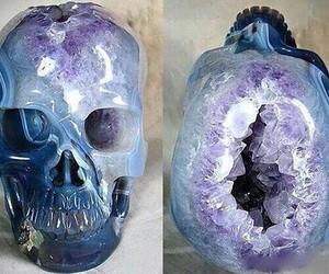 skull, crystal, and amethyst image