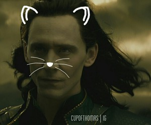 Marvel, loki, and cat whiskers image