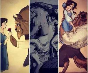 beast, princess, and love image