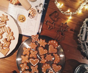 baking, candles, and christmas image