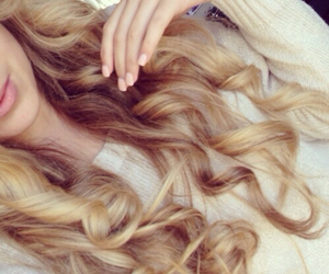 hair, blonde, and curls image