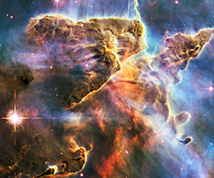 colors, nebula, and space image