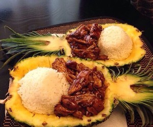 food, pineapple, and delicious image