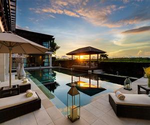 luxury, pool, and sunset image
