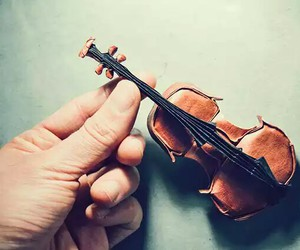 violin, origami, and music image