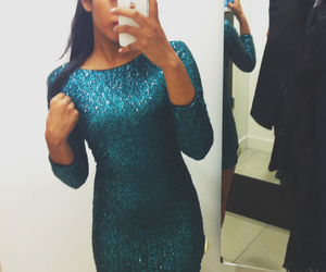 dress, sparkle, and pretty image
