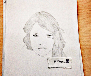 draw, drawing, and Taylor Swift image
