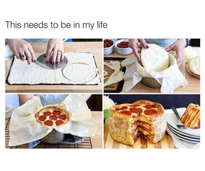 pizza, food, and cake image