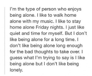 alone, lonely, and me image