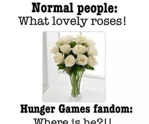 president snow, the hunger games, and white roses image