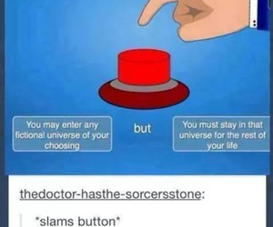fictional world and slams button image
