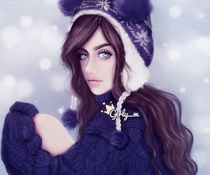 girly_m, winter, and art image