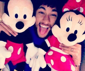 neymar, neymar jr, and mickey mouse image