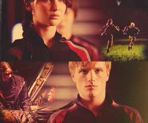 katniss, peeta, and the hunger games image