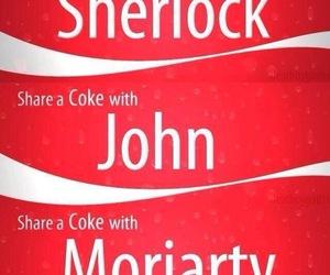 sherlock, john watson, and coke image