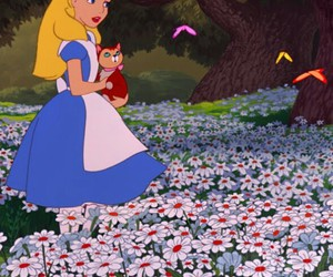 alice in wonderland, beautiful, and butterfly image