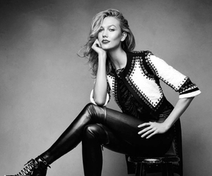 Karlie Kloss, black and white, and model image