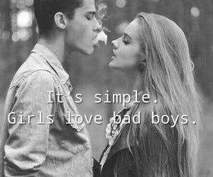 bad boys, black and white, and girls image