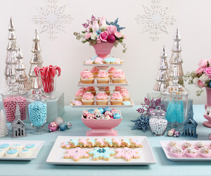 cupcake, dessert, and pink image