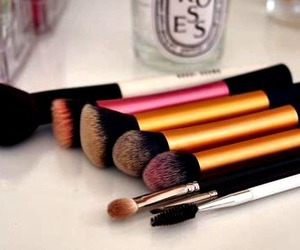 makeup brushes, Brushes, and makeup image