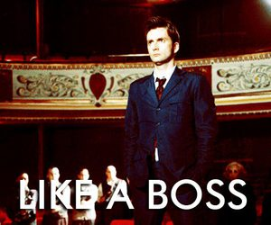 doctor who, david tennant, and boss image
