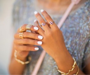 fashion, nails, and rings image