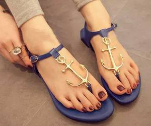 blue, anchor, and sandals image