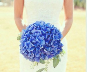 wedding, blue, and flowers image