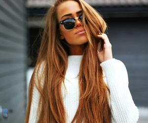 fashion, girl, and sunglasses image