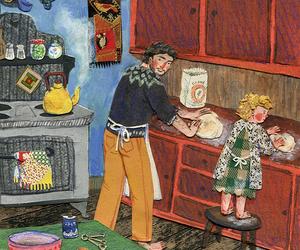 art, illustration, and kitchen image