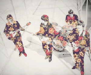 beatles, flowers, and sixties image