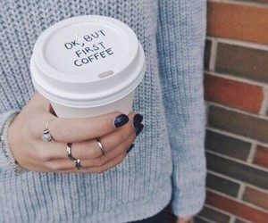 coffee, nails, and rings image