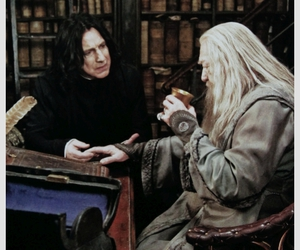 harry potter, snape, and dumbledore image